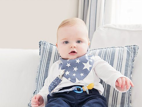 Bavaglia per neonato a bandana in cotone