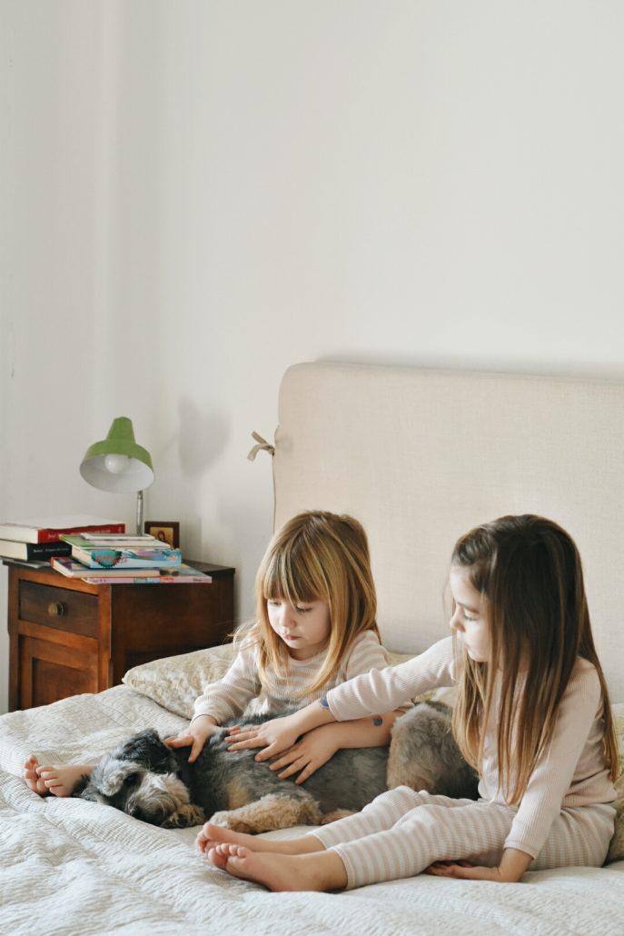 pigiama a righe per bambini coordinato sorelle