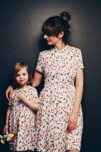 abiti minime coordinati per mamma e figlia