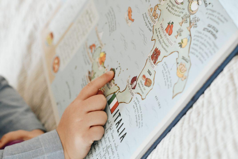 libro mappa geografica bambini