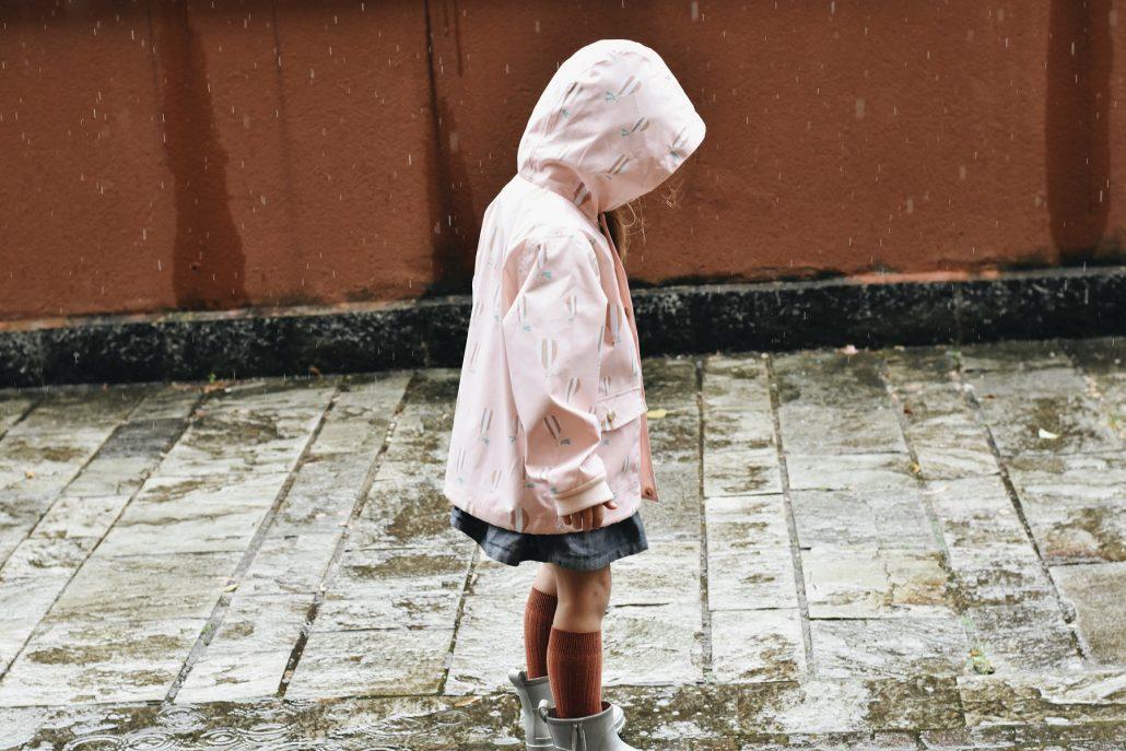 giacca pioggia per bambini repellente