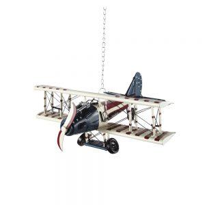 cameretta per neonato aeroplano in metallo