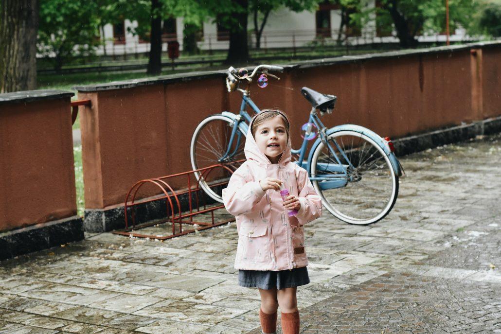 abbigliamento pioggia per bambini tessuti repellenti