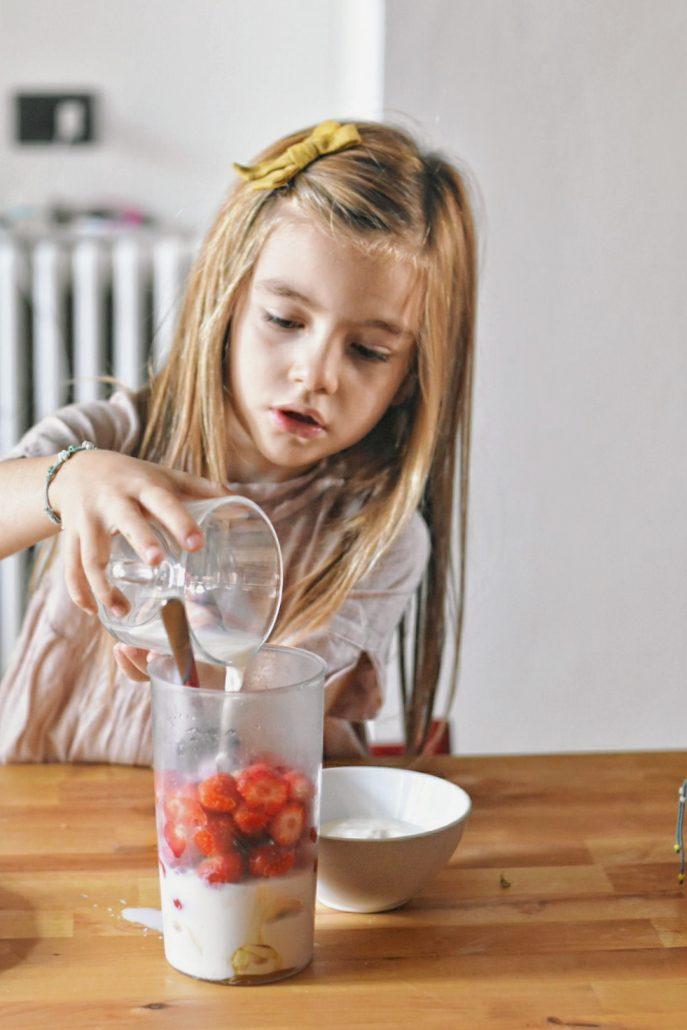 frullato di fragole ricetta veloce