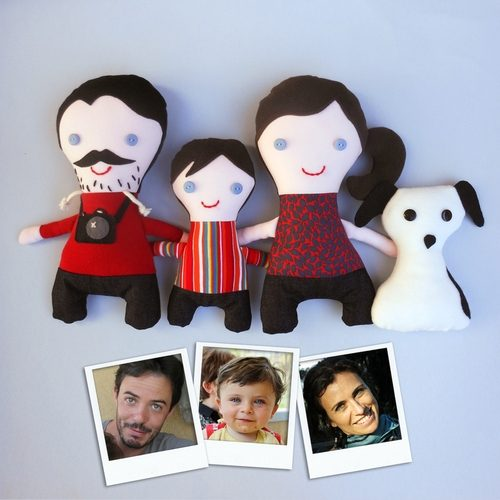 pupazzi personalizzati famiglia