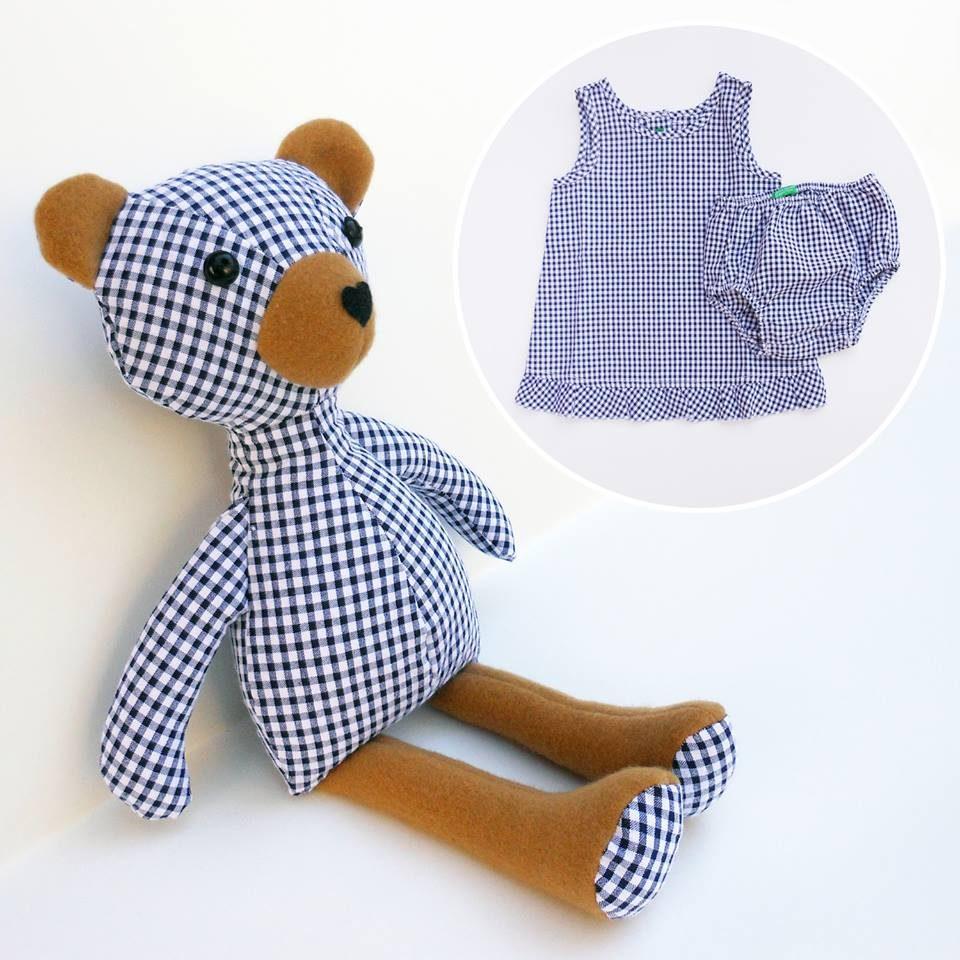 vestito bambino trasformato in peluche