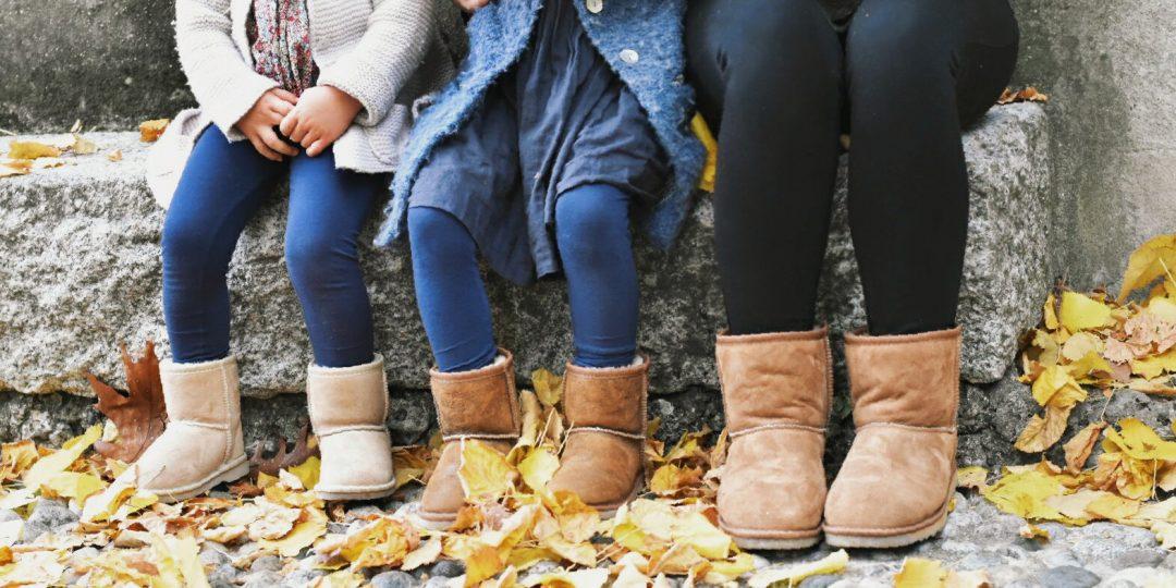 scarpe mamma e bimba uguali in camoscio