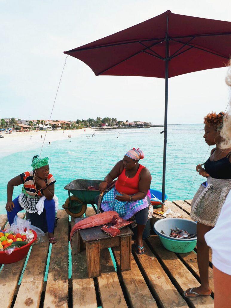 santa maria mercato del pesce nell isola di sal capo verde