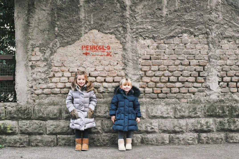 bambine indossano piumino per bambini