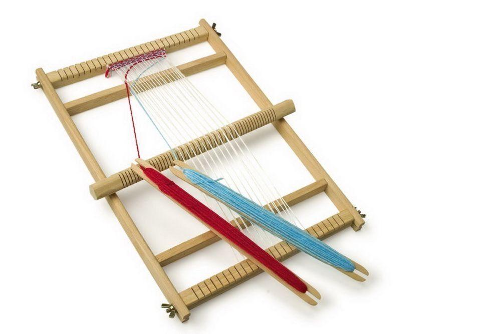 idea gioco per natale telaio legno bambina