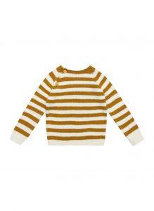 maglia bambino a righe senape