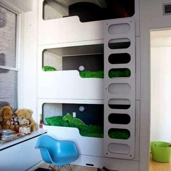 Ikea Letti A Castello Per Bambini.Cameretta A Tre Letti Spazio Per Tutti Ninakina