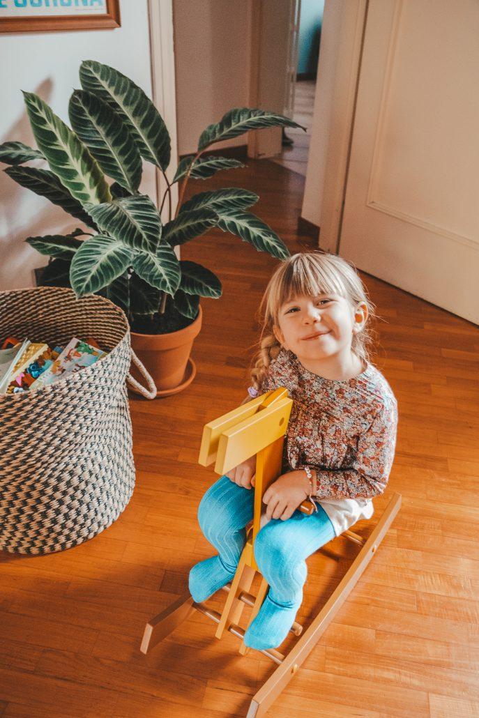 giochi di legno per bambini cavallo cavalcabile