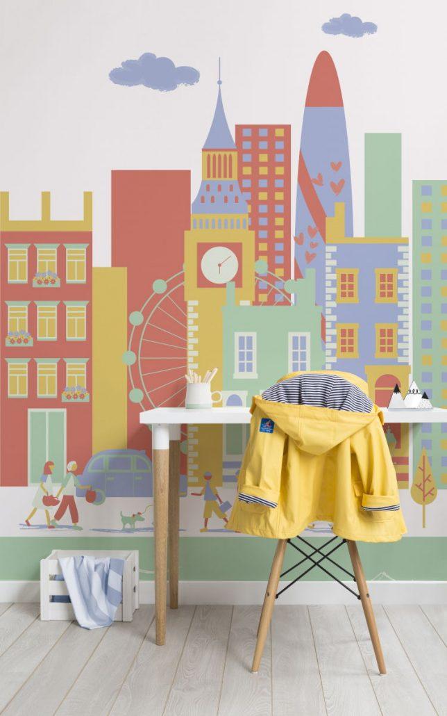 cameretta-bambini-decorazioni-parete-carta-parati