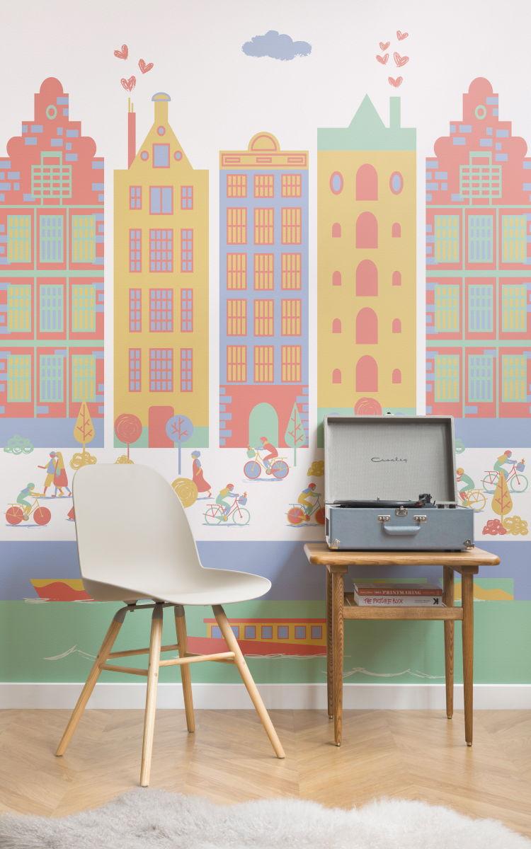 Muri Camerette Per Bambini colori pareti camerette? la carta da parati e' la soluzione