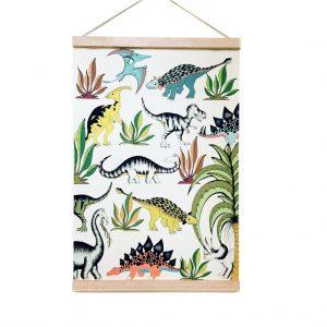 idee arredamento montessori poster dinosauri