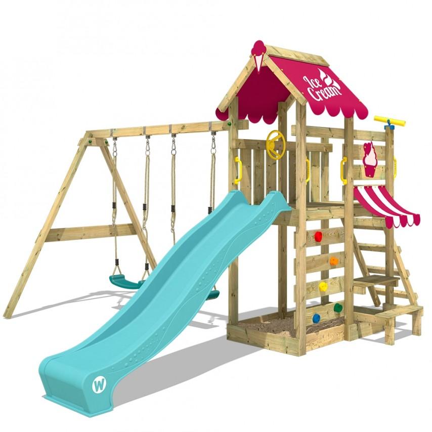 parco giochi in legno bambini da giardino