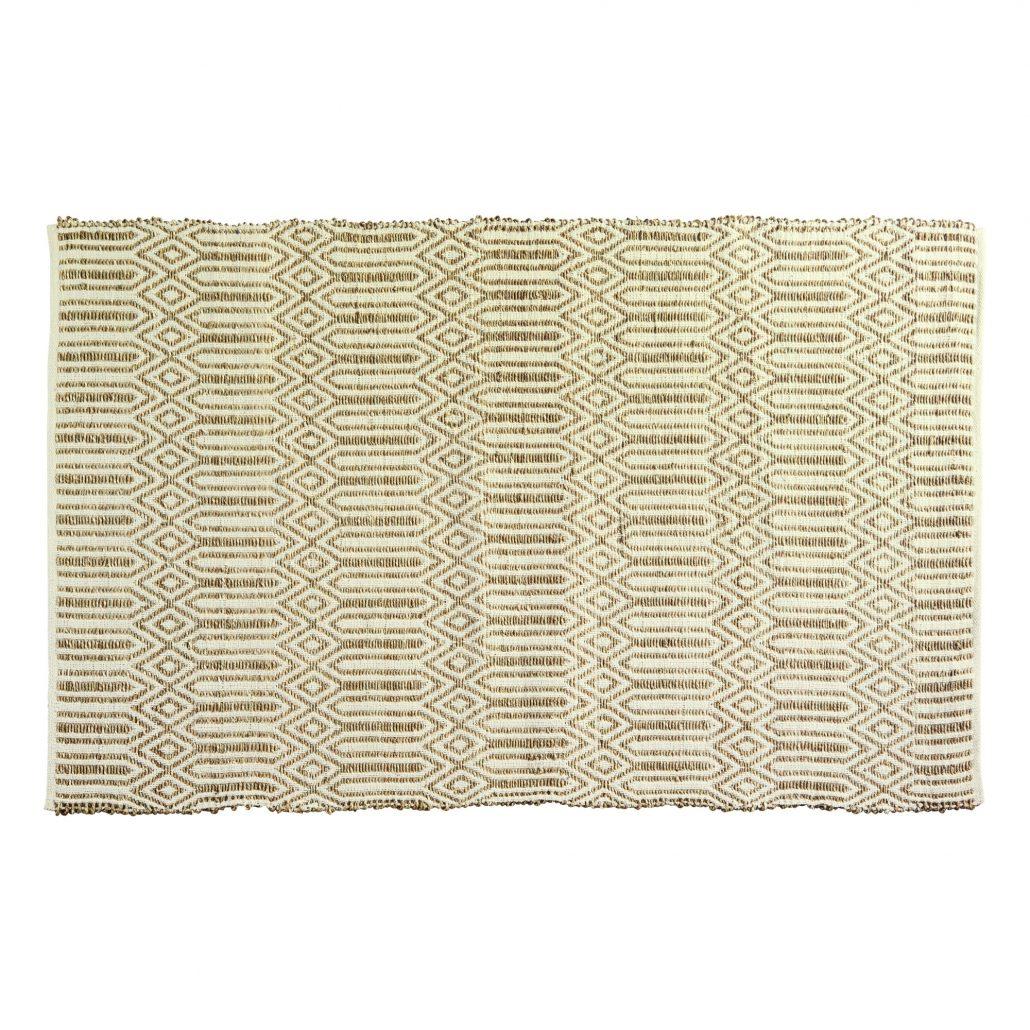 tappeto color corda camera boho chic