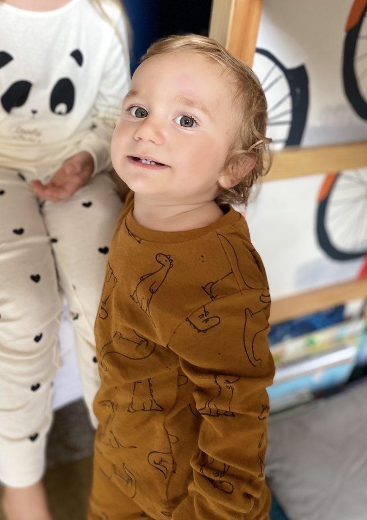 pigiama neonato in cotone con dinosauri kiabi
