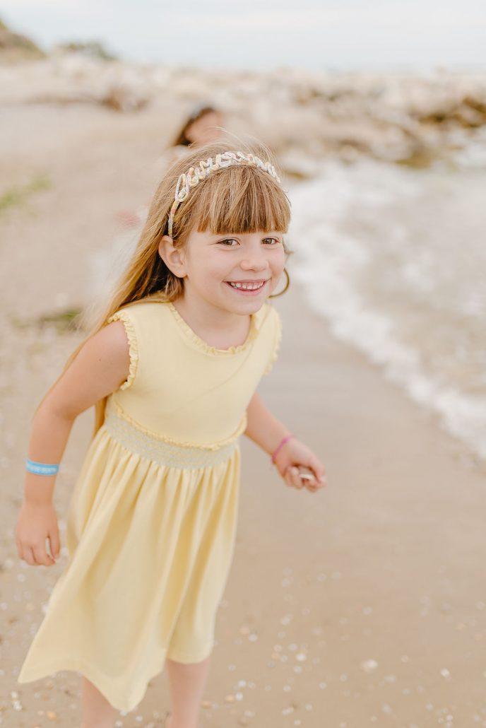servizio fotografico bambini abito malvi e cerchietto personalizzato con nome valentina solimene