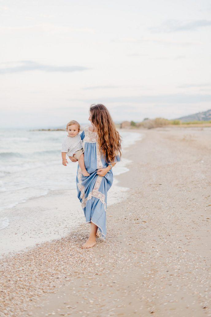 shooting mamma e neonato al mare in abruzzo