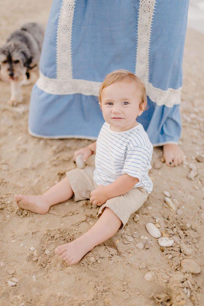 shooting fotografico bambino neonato al mare in abruzzo