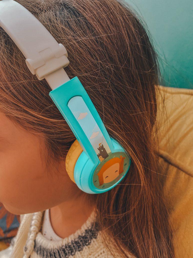 cuffie audio per bambini adatte a raccontastorie fabbrica delle storie o radio per bambini lunii